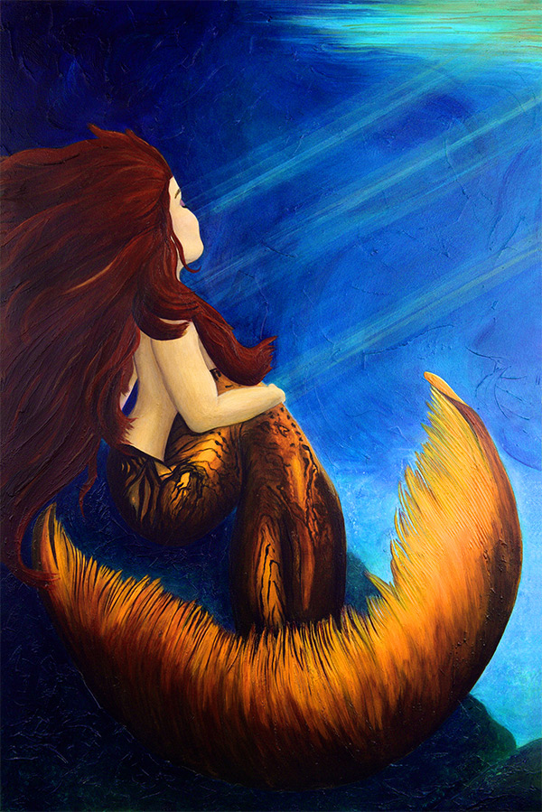 Morning Light Mermaid by Miki English copyright 2004